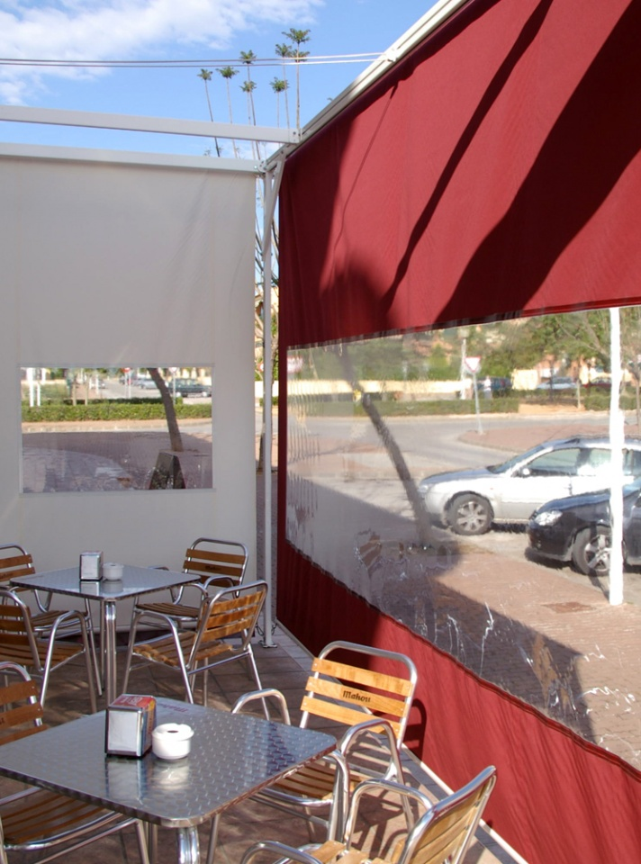 Drop Roller Awnings with windows Javea
