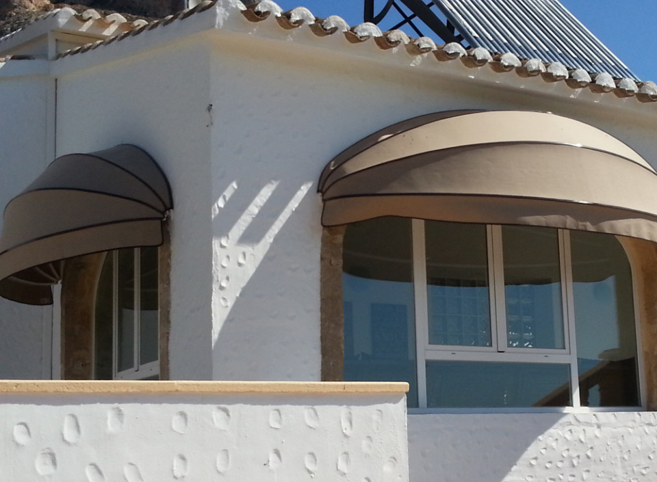 Curved Capota Awning with short valance _ Montemar Benissa