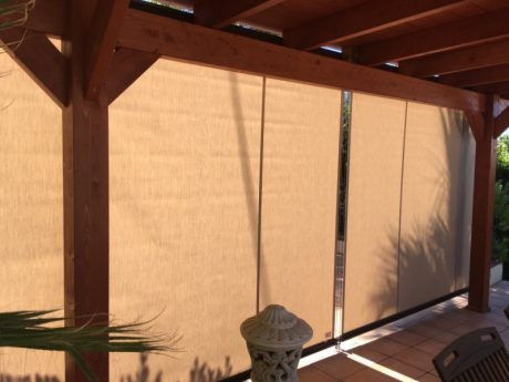 cased drop roller awnings