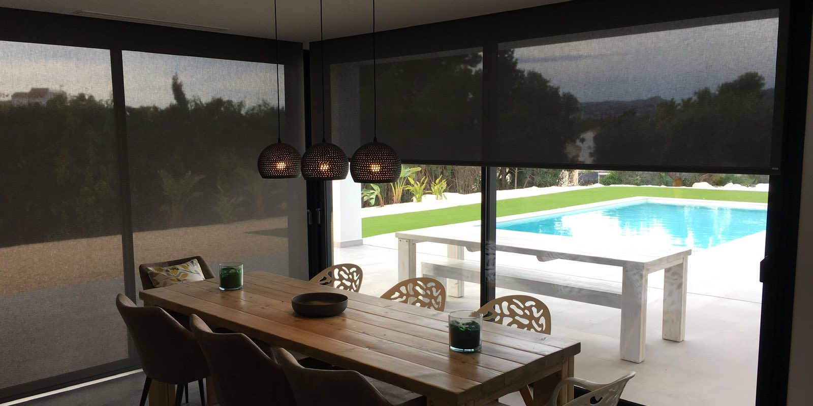 Polyscreen Roller Blinds in Javea